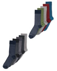Mens Pique Textured Socks 5 Pack