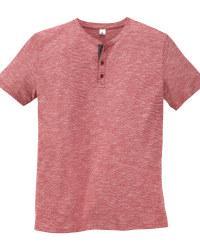 Mens Red Henley T-Shirt