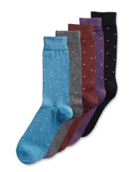 Mens Spotty Socks 5 Pack