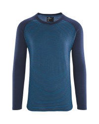 Men's Striped Merino Thermal Top