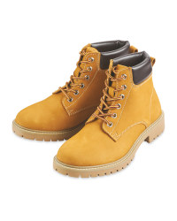Mens Tan Leather Boot