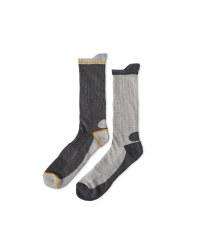 Workwear Socks 2 Pack - Cobalt/Yellow