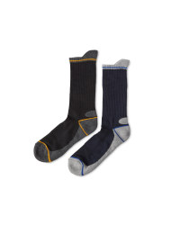 Workwear Socks 2 Pack - Yellow/Black