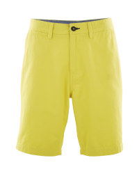 Mens Yellow Chino Shorts