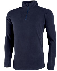 Mens Zip Neck Fleece - Blue