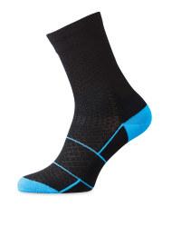 Merino Blend Cycling Socks - Black/Blue