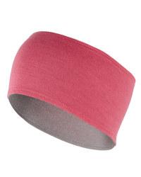 Merino Cycling Headband - Pink / Grey