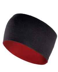 Merino Cycling Headband - Red / Black