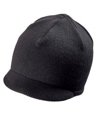 Merino Cycling Skip Beanie - Black