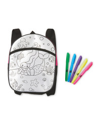 Mermaid Colour Your Own Backpack