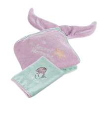 Mermaid Hooded Baby Towel & Mitt