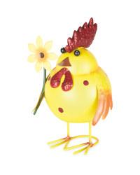Metal Animal Garden Ornament Hen