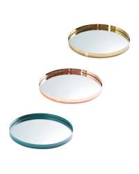 Mirrored Glass Drinks Tray