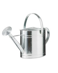 Gardenline Metal Oval Watering Can - Silver