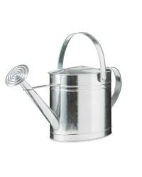 Gardenline Metal Oval Watering Can - Silver