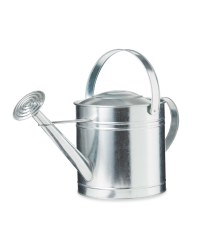 Gardenline Metal Round Watering Can - Silver