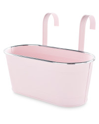 Gardenline Metal Trough With Hooks - Pink