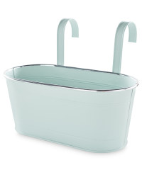 Gardenline Metal Trough With Hooks - Teal