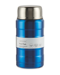 Metallic Blue Food Flask