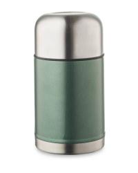 Metallic Food Flask - Dark Green