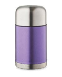 Metallic Food Flask - Purple