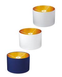 Metallic Lined Lampshade 30 x 20cm