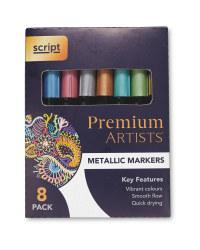 Script Metallic Markers