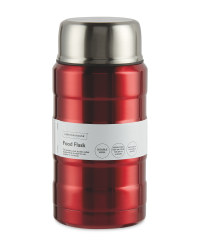 Metallic Red Food Flask