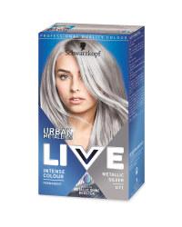 Metallic Silver Live Hair Colour