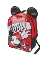 Mickey 3D Glitter Ears Backpack