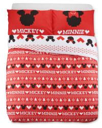 Mickey Fairisle Double Duvet Set