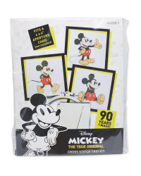 Mickey Mouse Happy Cross Stitch Kit