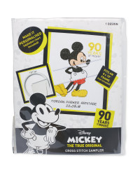 Mickey Mouse Cross Stitch Sampler