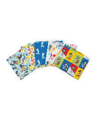 Mickey Mouse Fabric Quarters Blue