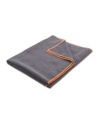 Adventuridge Camping Towel - Dark Grey/Orange