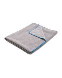 Adventuridge Camping Towel - Grey/Blue