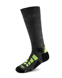 Mid Compression Running Socks - Anthracite Melange/Yellow
