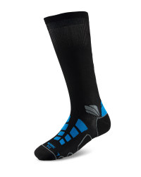 Mid Compression Running Socks - Black/Blue