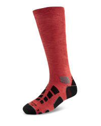 Mid Compression Running Socks - Red Melange/Black