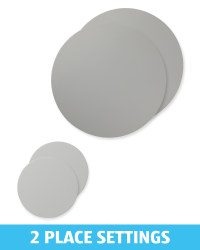 Mid Grey Placemat and Coaster Set