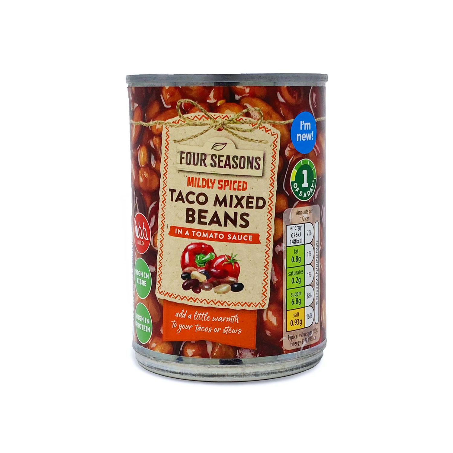 Mildly Spiced Taco Mixed Beans
