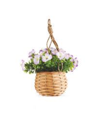 Mini Purple Artificial Flower Basket