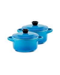 Mini Casserole Stoneware 2 Pack - Blue