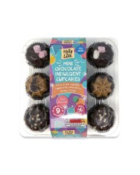 Mini Chocolate Indulgence Cupcakes