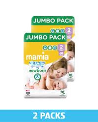 Mini Size 2 Nappies 2 x 60 Pack