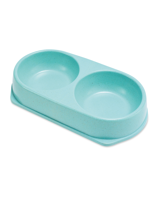Mint Blue Bamboo Pet Bowl