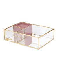 Mirrored Glass Jewellery Box