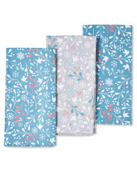 Festive Mistletoe Tea Towel 3 Pack