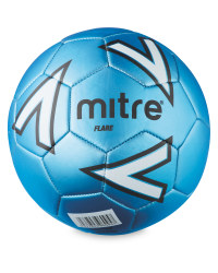 Size 5 Mitre Football - Blue/White