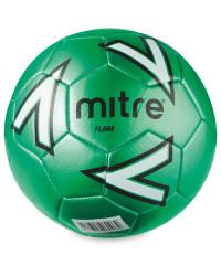 Size 5 Mitre Football - Green/White